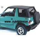 Bâche de remplacement Suzuki/Santana Vitara Noire MK1