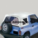Bâche de remplacement Suzuki/Santana Vitara Blanche lateraux amovibles MK2